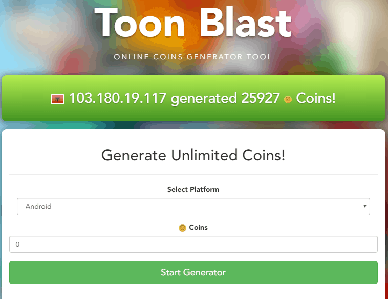 toon blast hack screenshot