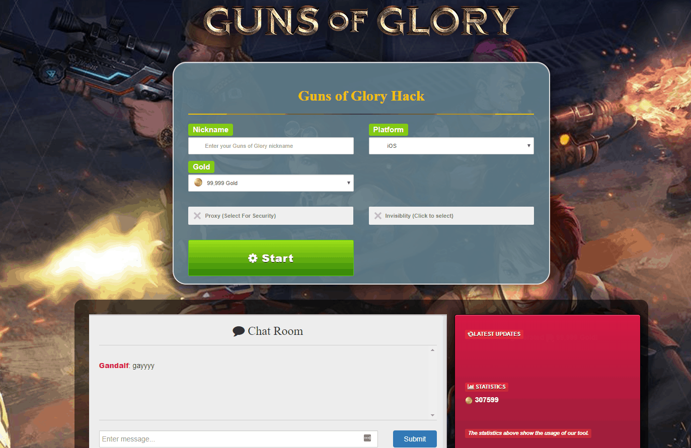 Guns of Glory Cheats