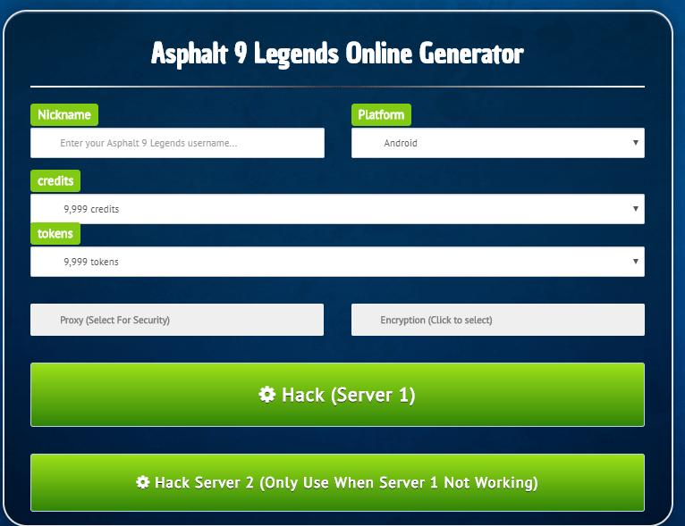 Asphalt 9 hack