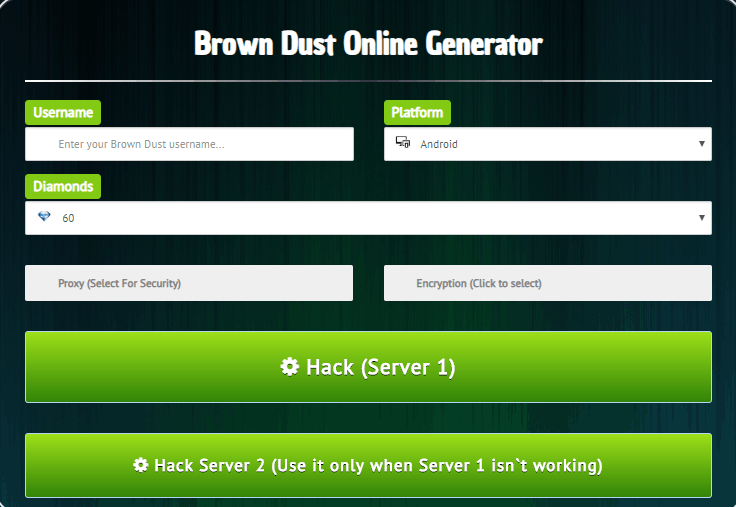 brown dust hack screenshot
