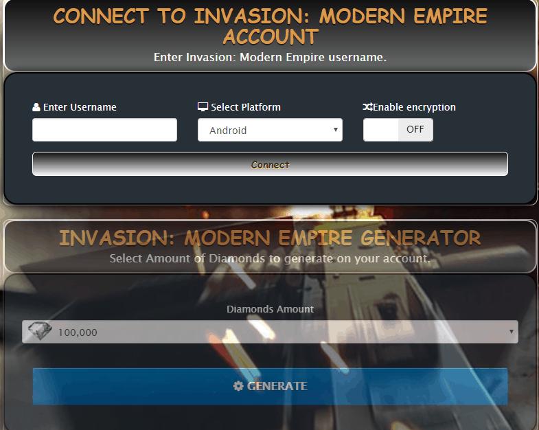 invasion modern empire cheats