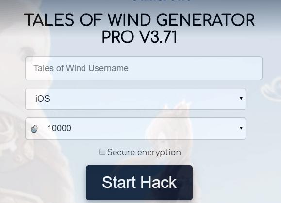 tales of wind hack screenshot