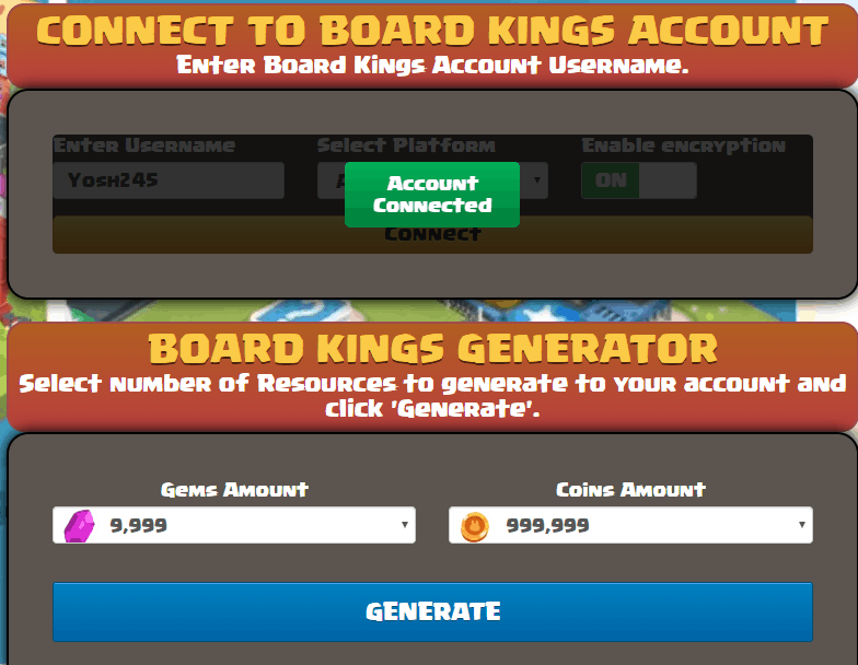 board kings gem generator screenshot