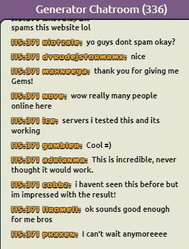 fake live chat screenshot