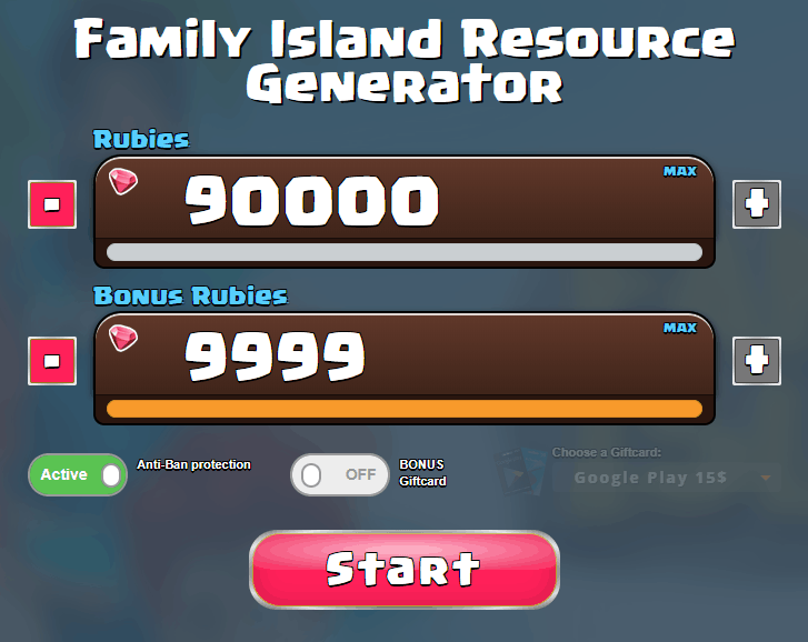 screenshot of one of the family island cheats we tested
